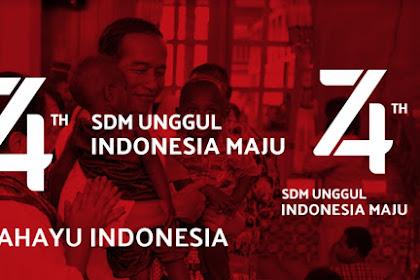 Download Logo HUT RI 74 Revisi - Billboard - Poster - Banner - Umbul Umbul Lengkap
