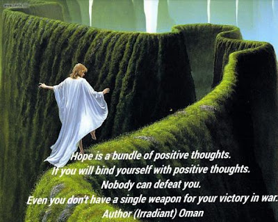quotes about positive: hope is a bundle positive thoughts.