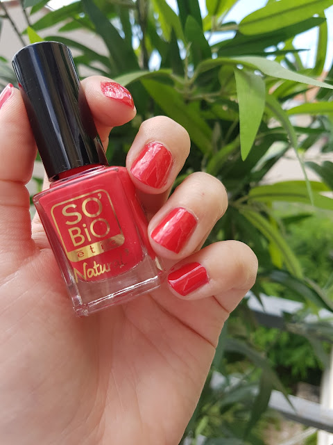 swatch vernis rouge coquelicot so bio étic