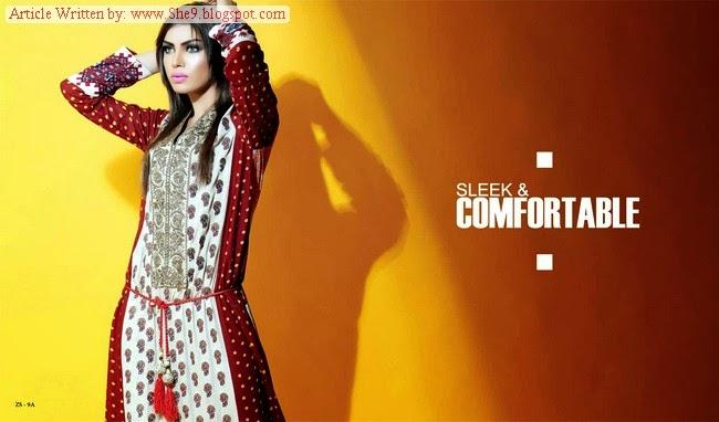 Sania Zara Kurti Winter-Fall Collection 2014-2015 By ZS