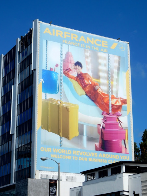 Air France Our world revolves around you billboard