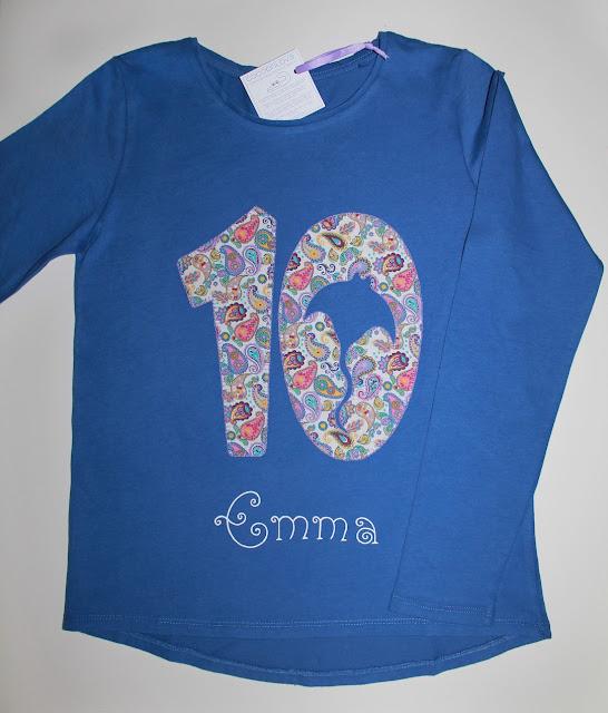 camiseta cumpleaños 10 años