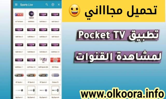 تحميل تطبيق Pocket TV 2020 أفضل تطبيق لمشاهدة قنوات التلفاز مجانا