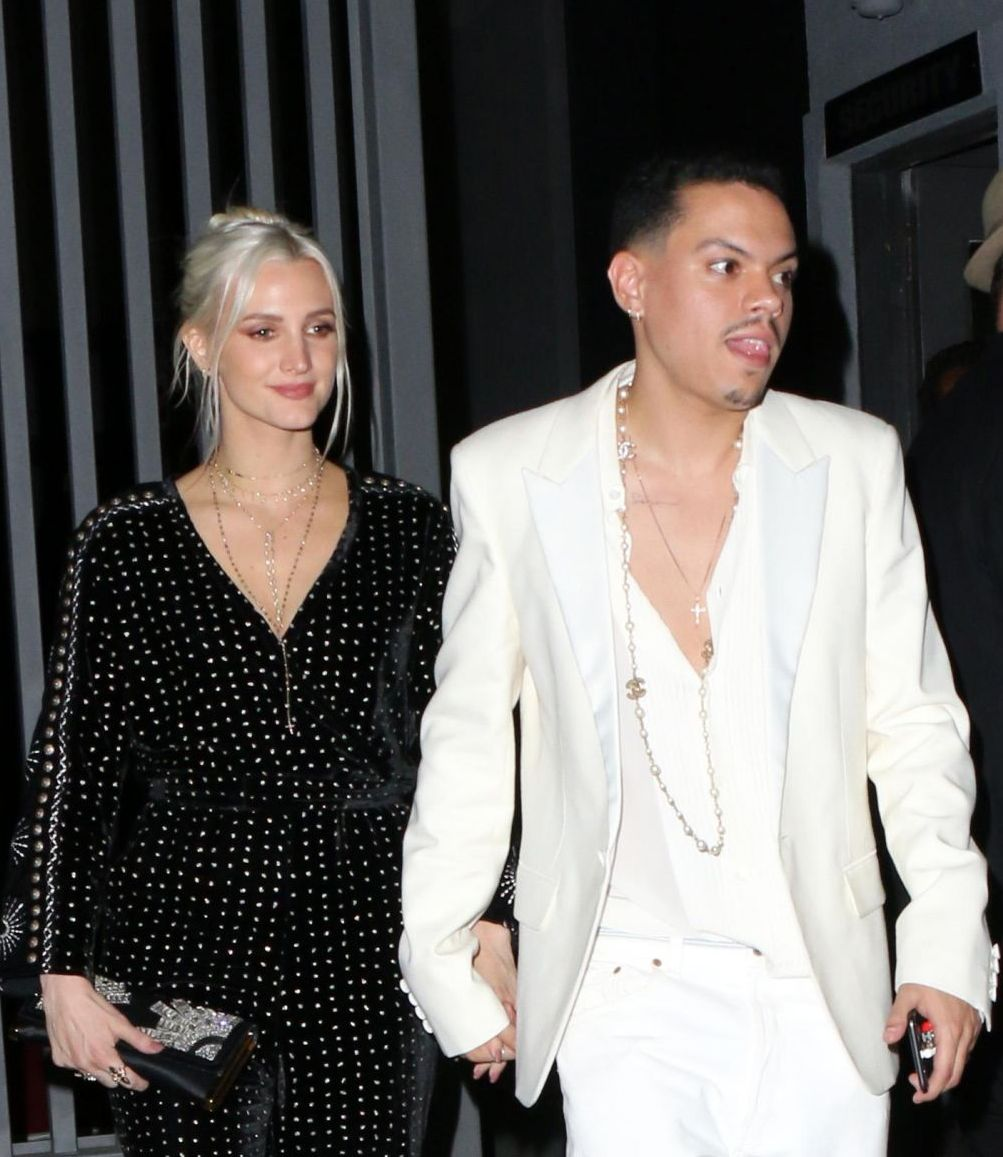 Ashlee Simpson And Evan Ross Arrives At Red Studios In Los Angeles