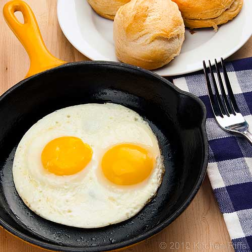 Fried Eggs in frying pan
