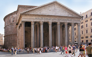 Rome's ancient Pantheon is the burial place of many famous individuals, including Arcangelo Corelli