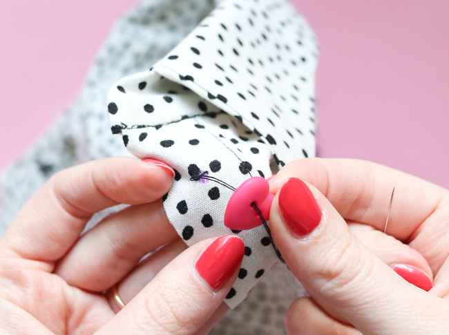 How to sew on a buttons with video by Tilly and the Buttons