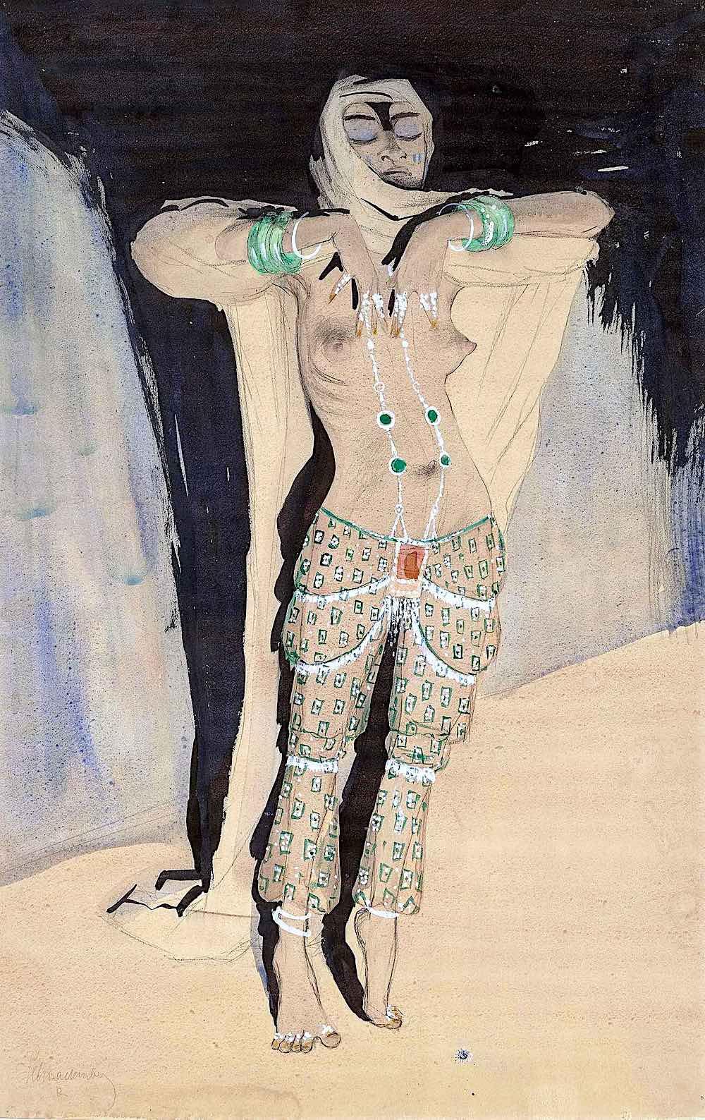 Walter Schnackenberg, a woman dancer