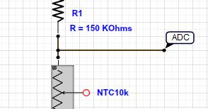2 x Thermistance CTN 10K 10Kohm  10 Kohm                                  RTC10K