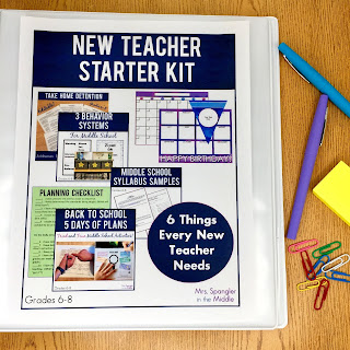 The SIX things all new middle school teachers need for their classroom to start a new year off right!  #musthaves #survivalkit #firstday