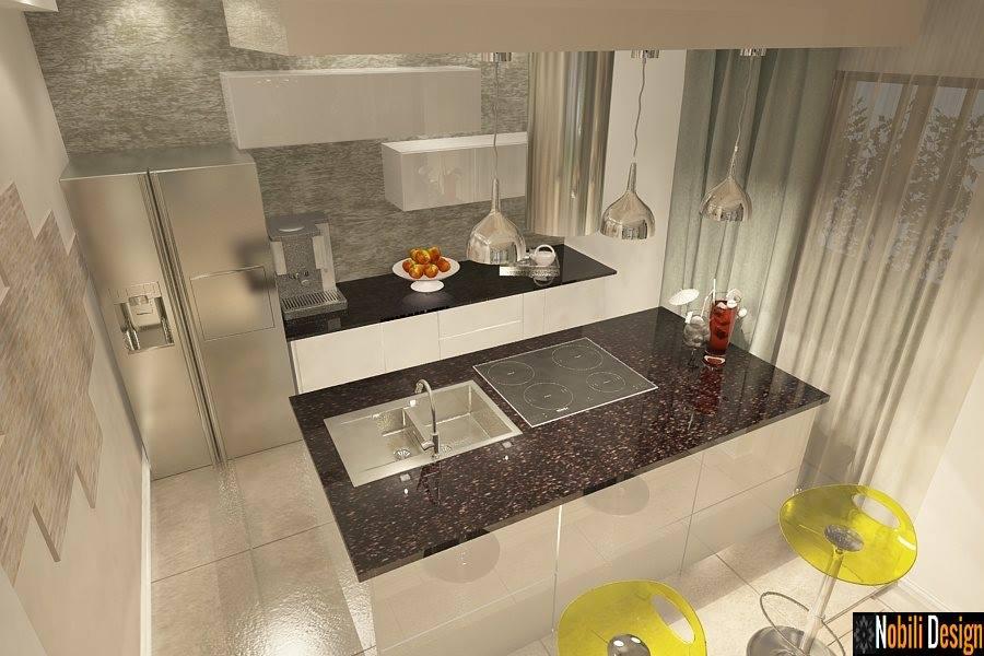 Design interior - bucatarie  - casa moderna - Bucuresti | Proiect de casa la cheie - Bucuresti
