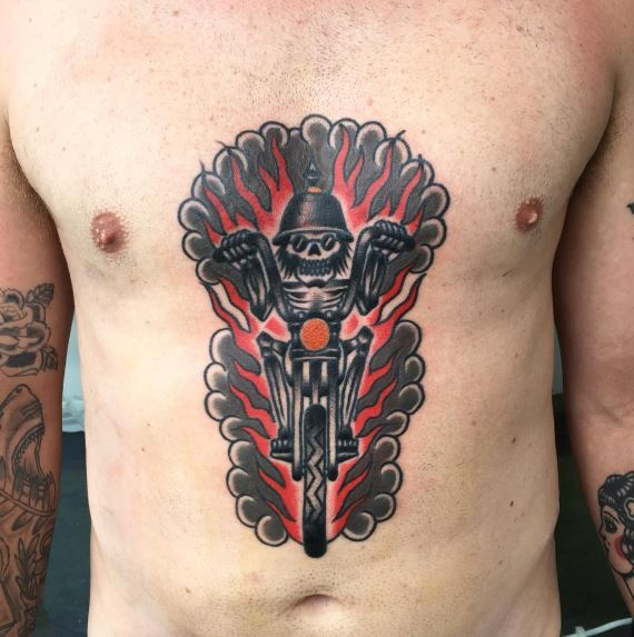 cd3f0f25f 50+ Outlaw Biker Tattoos For Guys (2019) - Motorcycle Designs ...