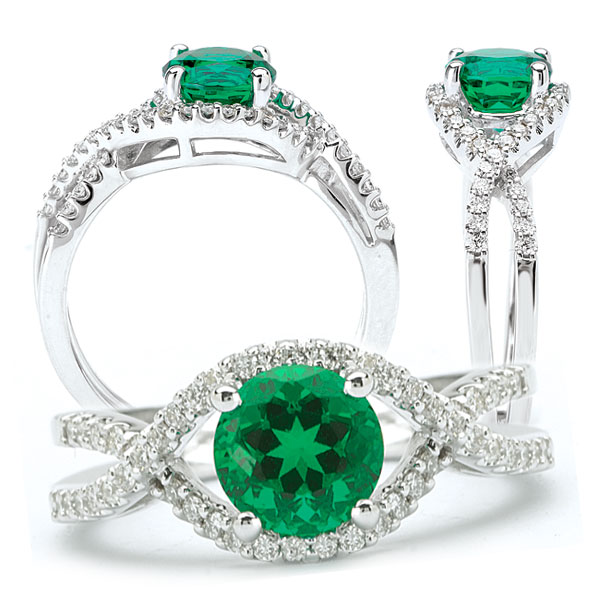 The Beautiful Emerald Engagement Rings