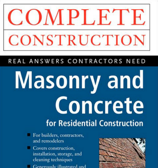 Residential Masonry Contractor: Book On Masonry And Concrete For Residential Construction
