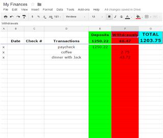 Excel Check Book