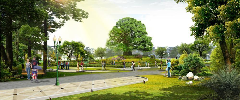 công viên the green daisy - the green manor