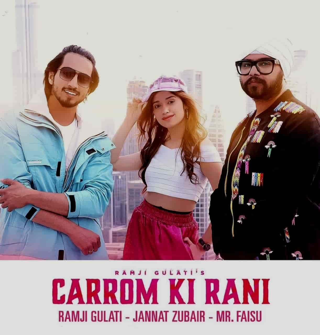 Carrom Ki Rani Song Image Features Jannat Zubair And Mr. Faisu