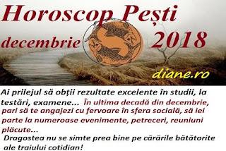Horoscop Pești decembrie 2018