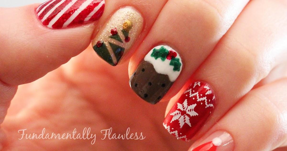 Fundamentally Flawless: Christmas Nail Art: Candy Cane ...