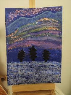 art visuel suède aurore boréale mes filles et moi