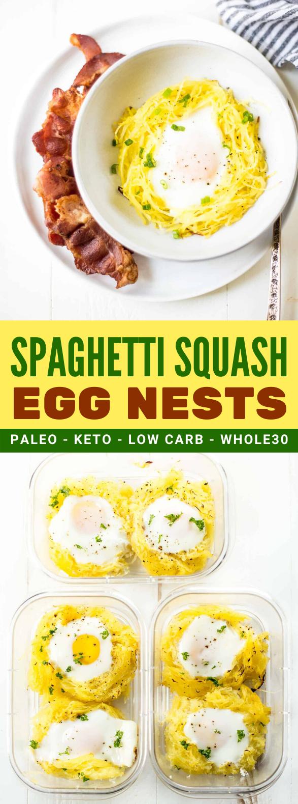SPAGHETTI SQUASH EGG NESTS #whole30 #diet