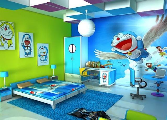 Rumah Serba Doraemon Kamar Tidur yang Agak Luas
