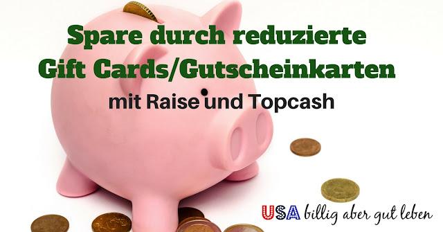 Spare Geld beim Kauf von Gift Cards und erhalte zusaetzlich Cash Back