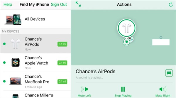 how to use find my airpods