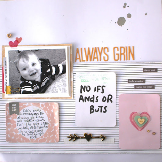 Scrapbook Layout with a Grid Design