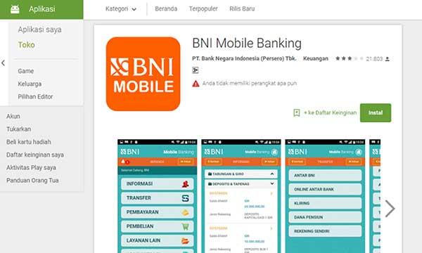 Penyebab Tidak Bisa Instal BNI Mobile Banking di Android dan iOS