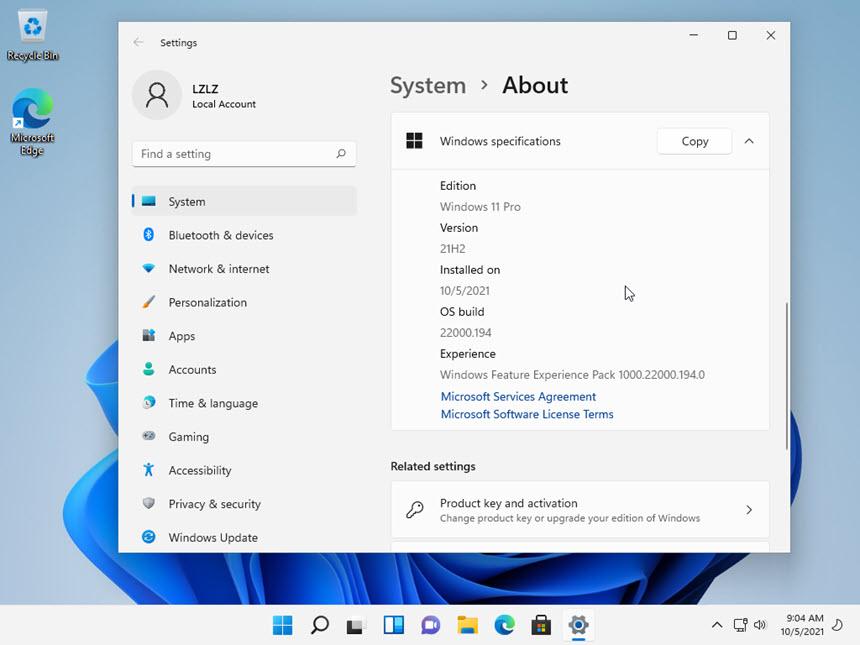 Windows 11 RTM Final 21H2 Build 22000.194 Consumer Edition (x64)