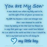 Happy Birthday wishes quotes for son and: a man stand new where my baby used to be