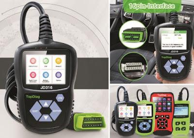 JD316 Car Scanner: Portable OBDII Vehicle Engine Fault Code Reader - TopDiag Automotive Diagnostic Scan Tool