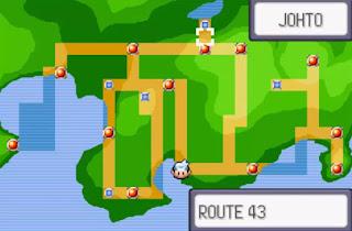 Pokemon Silver Moon para GBA Mapa Region de Johto