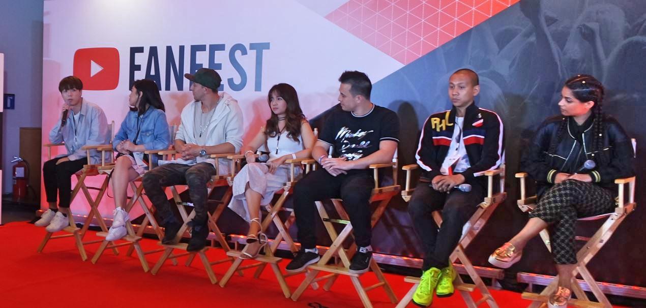 Top YouTubers JunCurryAhn, Janine Vela, Matt Esteffanina, Kristel Fulgar,  Jayden Rodrigues, Mikey Bustos and Lilly Singh aka llSuperwomanll.