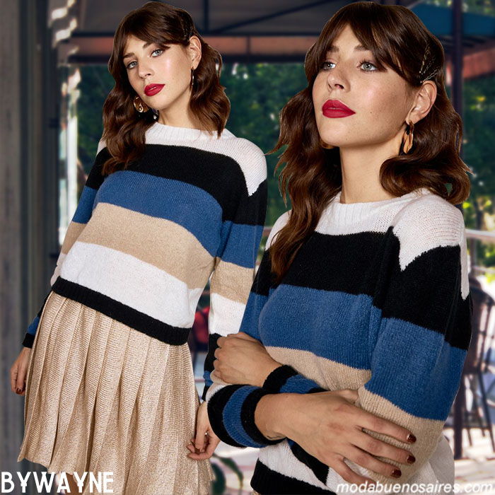 Moda invierno 2019 ropa de mujer sweaters tejidos. Moda 2019 tejidos.