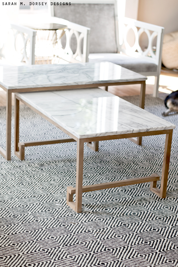 sarah m. dorsey designs: Marble Nesting Tables for the ...