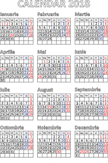 Calendar zile libere legale 2018,