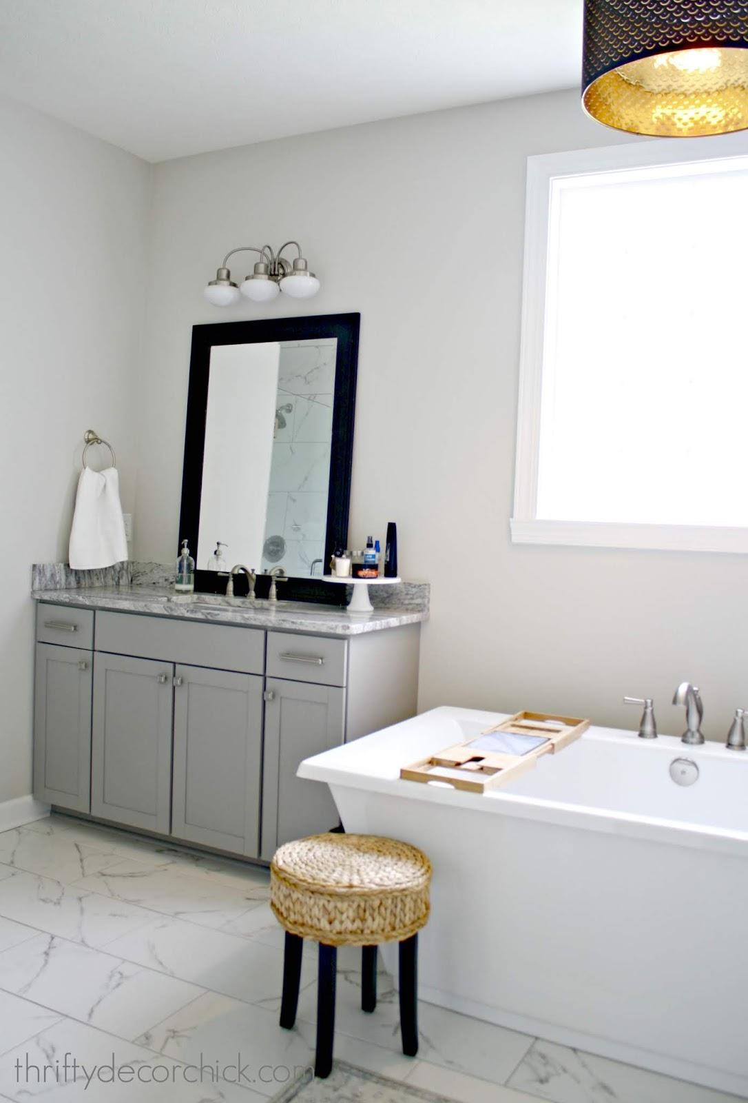 Bathroom vanity with no storage