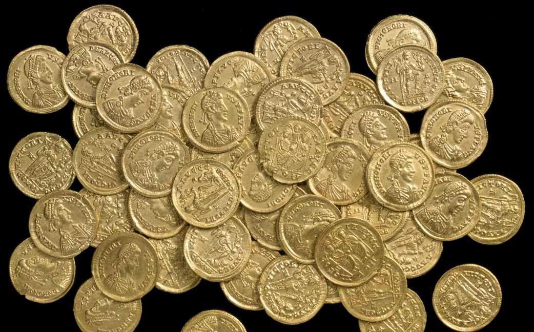 Monedas de oro romanas