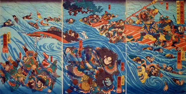 กวนอูใช้ประโยชน์จากเหตุการณ์ธรรมชาติเอาชนะบังเต๊กและอิกิ๋ม