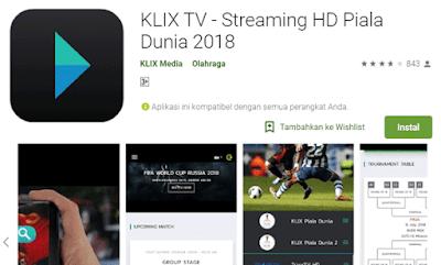 klik tv aplikasi streaming piala dunia dengan kualitas gambar yang HD