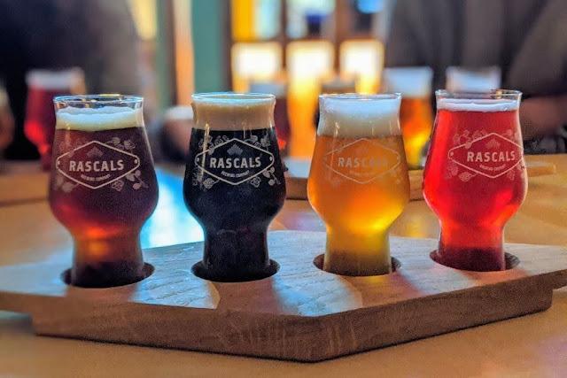 Beer tasting platter at Rascal's HQ in Inchicore Dublin