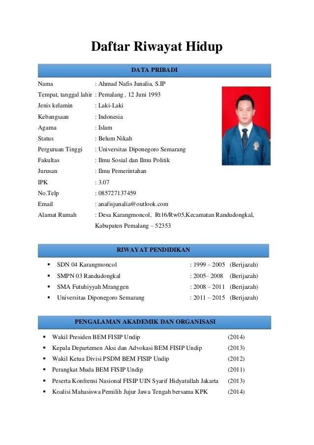 Contoh Daftar Riwayat Hidup 2013 - cv nabila