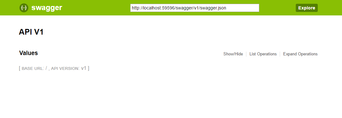 Create HTML document from the swagger generated JSON file using Asp