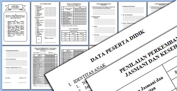Contoh Raport PAUD Kelompok Bermain Format Microsoft Word