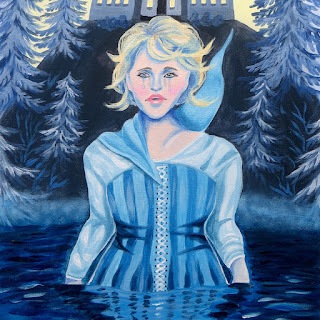 Blue Maiden acrylic painting