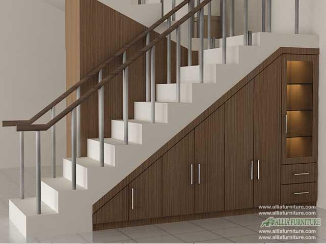 lemari minimalis bawah tangga model utah