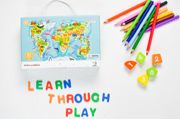 Learn through play, primary aged home learning, dodo puzzles
