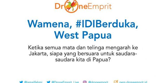 Riset Drone Emprit, Buzzer Pro Jokowi tak Punya Empati Untuk Papua